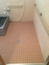 タイルの浴室・クリーニング後