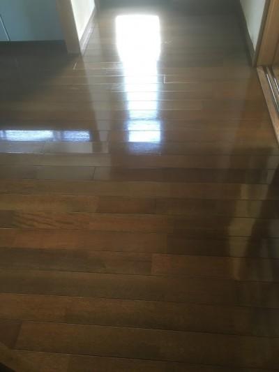 クリーニング、ワックスがけ後の床