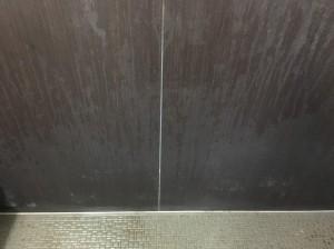 浴室の壁の水あか