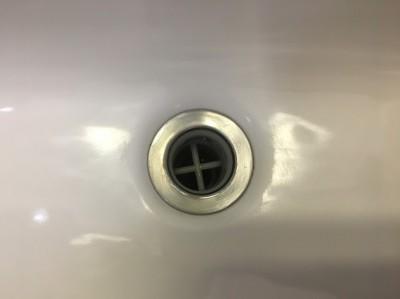 洗面台のボールの水あか取れました